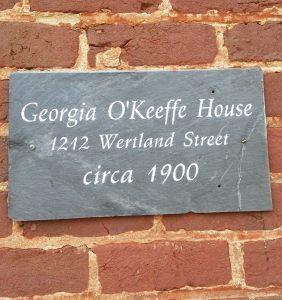 Georgia O'Keeffe House 1212 Wertland Street. Circa 1900